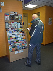 leaflet distribution rack auditing